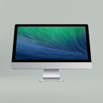 Mock up de pantalla de ordenador con vista frontal