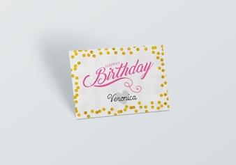 Mock up de tarjeta de cumpleaños