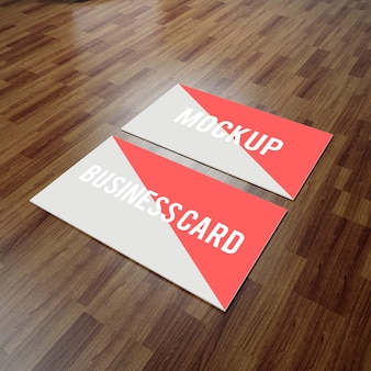 Mock up de tarjeta de negocios realista
