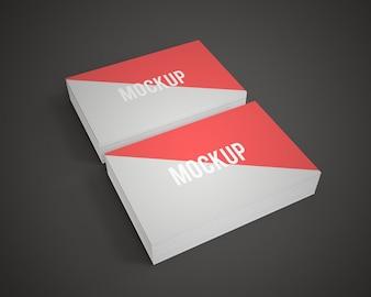 Mock up de tarjetas de negocios