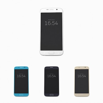 Mock up realista de móvil