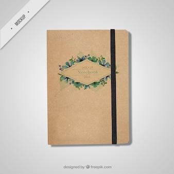 Mockup bela notebook no estilo do vintage