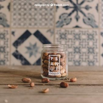 Mockup de amendoim