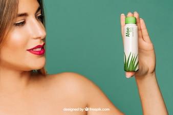 Mockup de producto cosmético