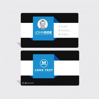 Mockup de tarjeta de visita azul