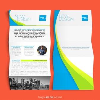 Modelo de folheto empresarial multicolorido