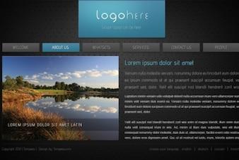 Modelo de site html no estilo dark