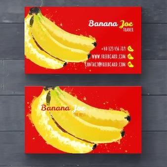 Modelo do cartão de Banana