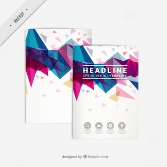 Modelos de folletos geométricos