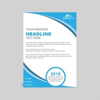 Moderno folleto de negocios azul