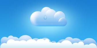 nuvem ícone e fronteiras psd