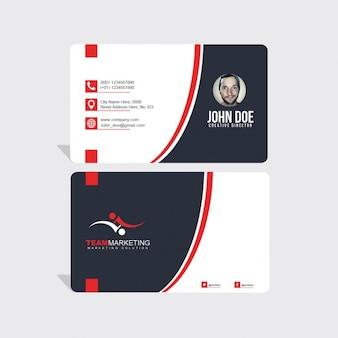 Ondulado vermelho e preto formas cartão de visita