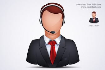 Online Customer Support icono psd