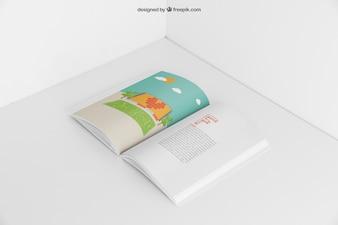 Open booklet mockup
