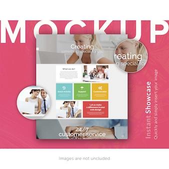 Página de serviço ao cliente mock up