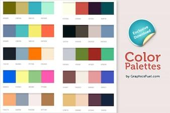 paletas de colores Xcellent psd