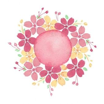 Pintados à mão fundo floral
