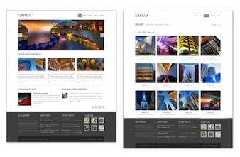 Plantilla de diapositiva sitio web