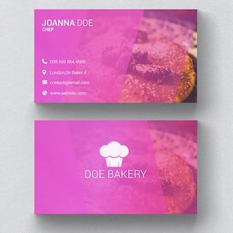 Plantilla de tarjeta de visita de la panadería