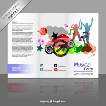 Plantilla de tríptico editable gratis