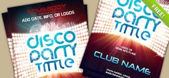 Plantilla del cartel PSD Para el evento del Club