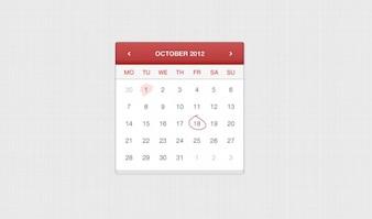 Por aplicación de calendario de cuero cosida a ui elemento de aplicación web