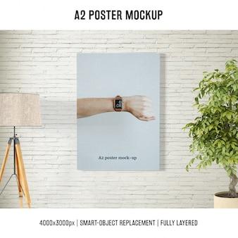 Poster mock up modelo