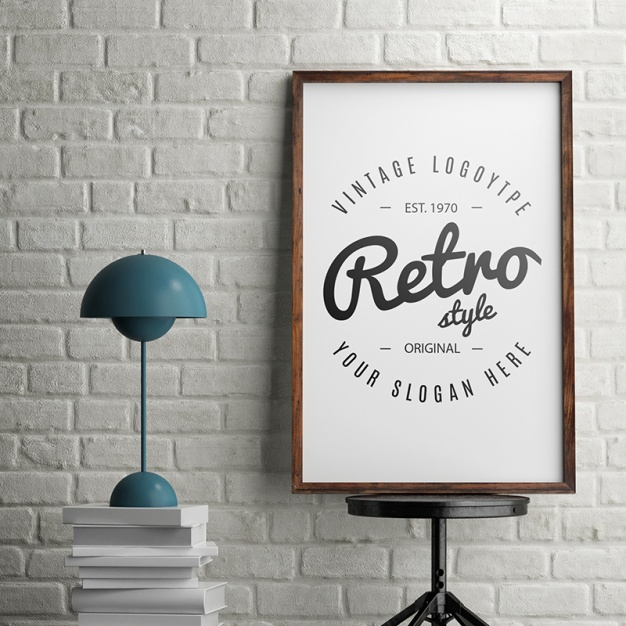 Poster realista mock up