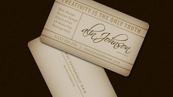 Presentación Modelo de la tarjeta de visita del vintage