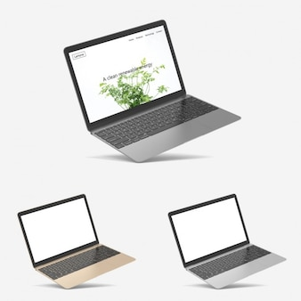 Presentación realista de macbook