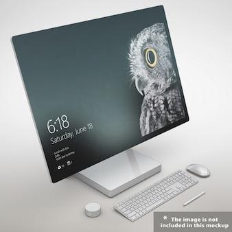 Presentación realista de monitor