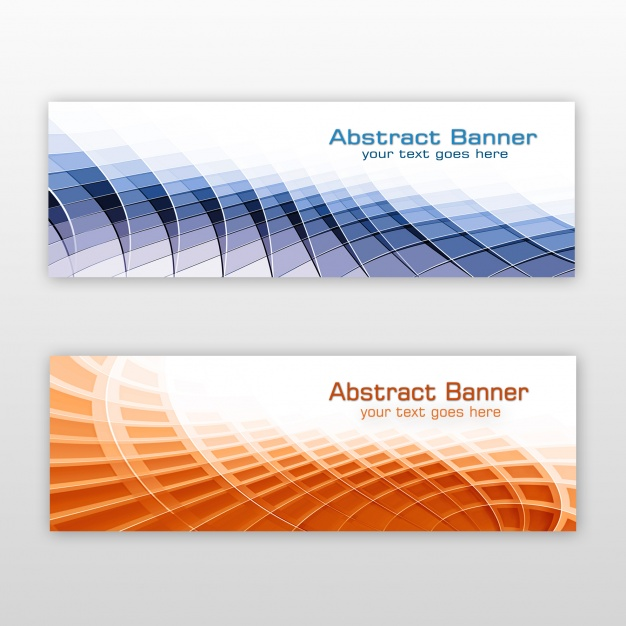 Projeto abstrato dos banners