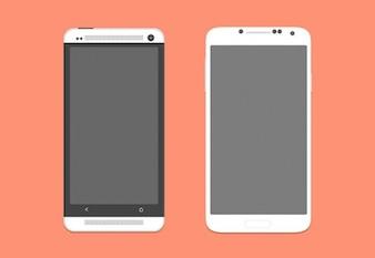 Protótipos de smartphones psd
