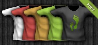 PSD Camiseta plantilla
