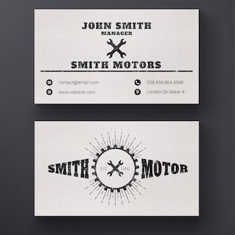 Reparação de automóveis cartão de empresa de serviços