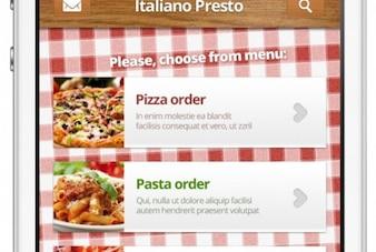 Restaurante de diseño web para móviles italiano