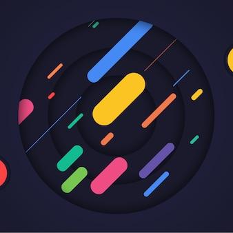 Resumo fundo multicolor