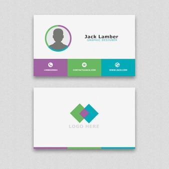 Sencilla tarjeta de visita con formas geométricas