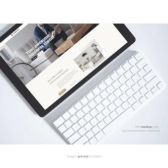 Tablete com teclado mapeado