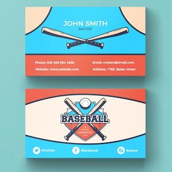 Tarjeta de visita de béisbol