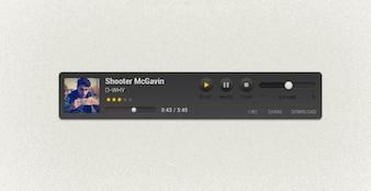tela personalizado música freebie pixel jugador