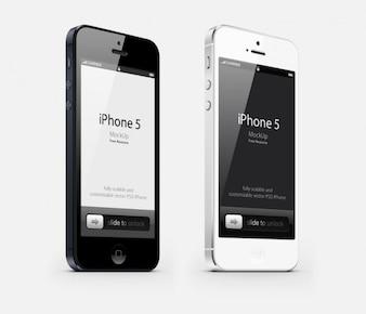 Teléfono de la manzana en blanco y negro