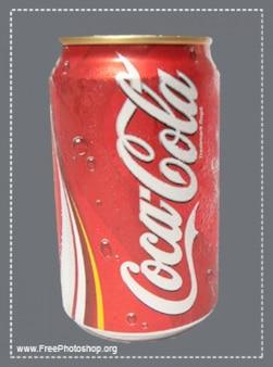 Uma lata de coca cola PSD