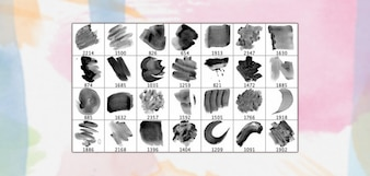 28 Haute Résolution Brosses Aquarelle