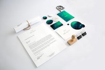 Affaires papeterie maquette conception