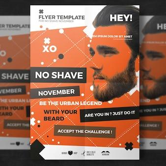 Affiche orange de Movember