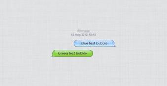 Apple iphone bulles de chat psd