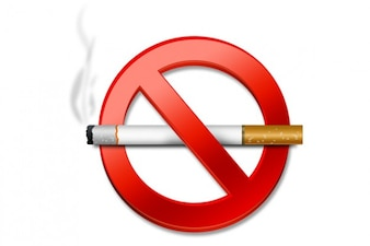 Aucun signe de fumer psd & icônes