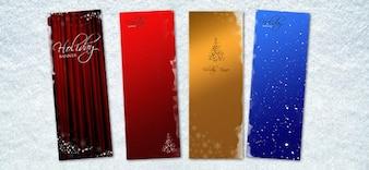 Bannière de Noël psd templates