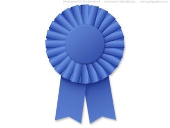 Blue Ribbon rosette (PSD)